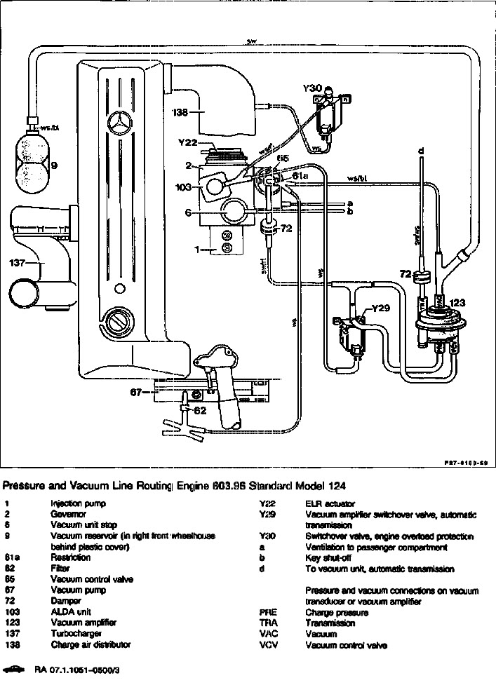 File on Mercedes W126 Vacuum Line Diagram