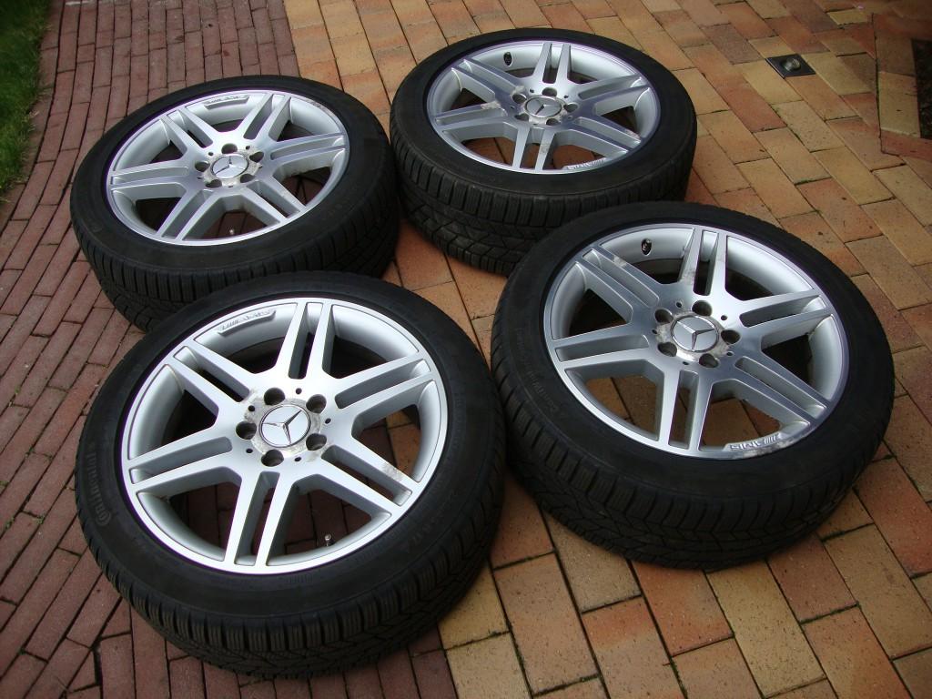 Te Koop 17 Inch Mercedes Amg Velgen En Winterbanden